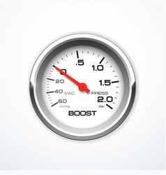 boost meter isolated vector image