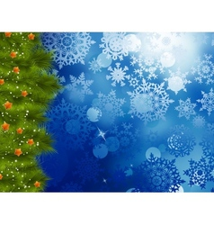Christmas background with tree eps 10 vector