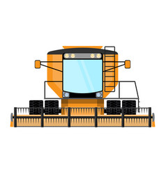combine-harvester a isolated vector image