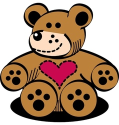 Cuddly teddy bear vector