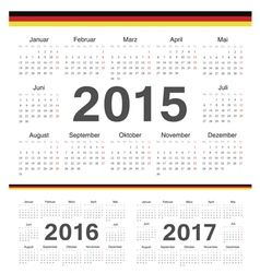 german circle calendars 2015 2016 2017 vector image vector image