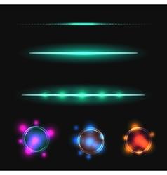 Glow stick line effect set vector