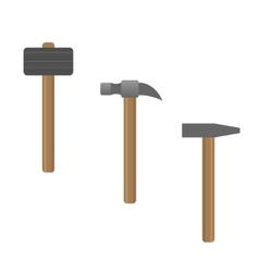 Hammer set vector image