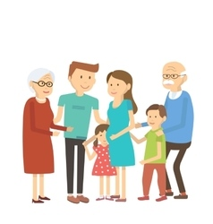 Happy Family Portrait vector image vector image