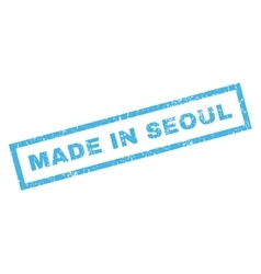 Made in seoul rubber stamp vector