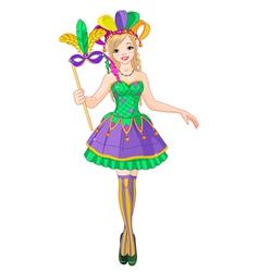Mardi Gras girl vector image