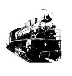 old fashioned train vector image
