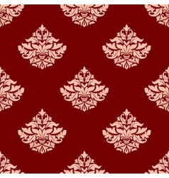 Pink victorian seamless pattern with leaves and vector image