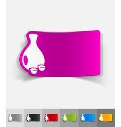 Realistic design element sake vector
