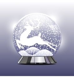 snow globe with a Christmas vector image vector image