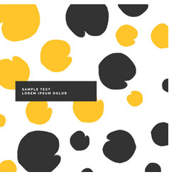 Stylish modern pattern in yellow and black color vector