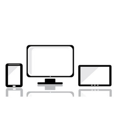 Tablet computer and mobile phone template vector