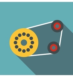 Timing belt icon flat style vector