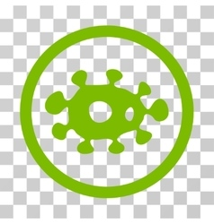 Virus rounded icon vector