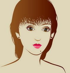 Beautiful girl with beauty hairstyle vector image
