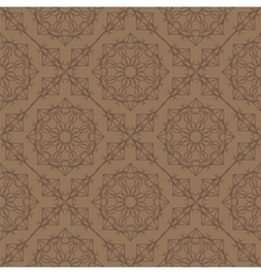 Brown ornamental seamless line pattern vector