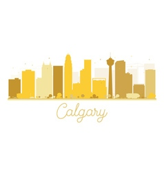 Calgary City skyline golden silhouette vector image