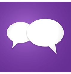 Speech bubble background icon vector
