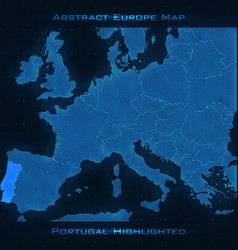 Europe abstract map portugal vector