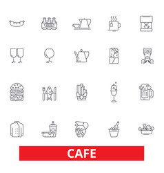 Cafe coffee shop street restaurant cafeteria vector