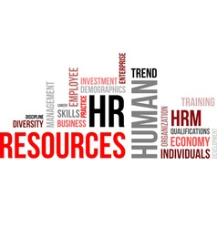 Word cloud human resources vector