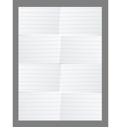 White lined paper vector