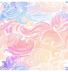Seamless abstract pattern waves background vector