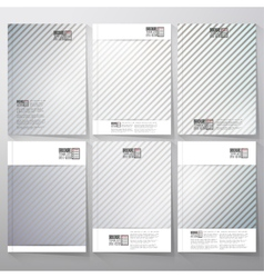 Striped gray background brochure flyer or vector