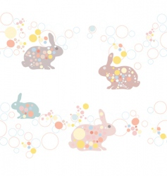 Cute seamless easter rabbit pa vector