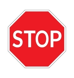 Stop sign on white background vector