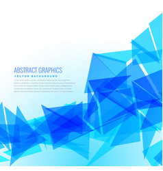 Abstract blue triangles design background vector