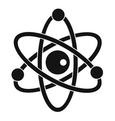 Atomic model icon simple style vector