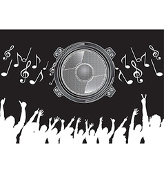 Big speaker vector image