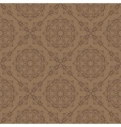 Brown Ornamental Seamless Line Pattern vector image