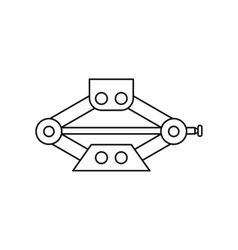 Car jack service equipment icon outline style vector