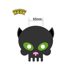 Cat mask skull for halloween honey mask for vector
