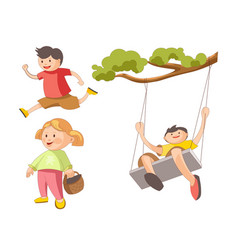 children little boys girls playing toys and vector image vector image