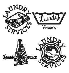 color vintage laundry services emblems vector image vector image