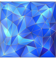 Crystal blue and gold lattice background vector