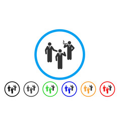 discussion group rounded icon vector image