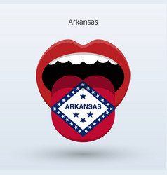 Electoral vote of arkansas abstract mouth vector