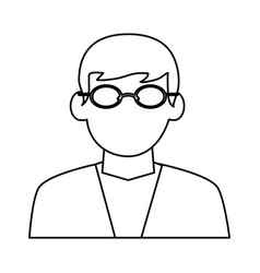 Faceless man with glasses icon image vector