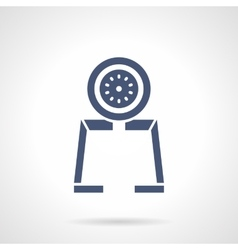 Gauge tool glyph style icon vector