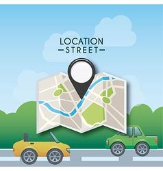 Gps location vector