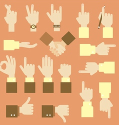 Hand flat design set with okay gesture vector