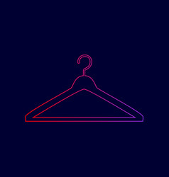 Hanger sign line icon with vector