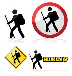 Hiking sign vector image vector image