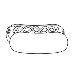 Hot dog fast food icon vector