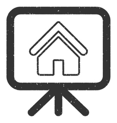 House project presentation screen icon rubber vector