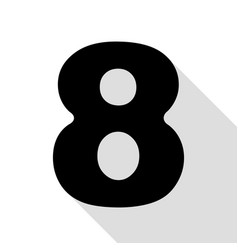 Number 8 sign design template element black icon vector